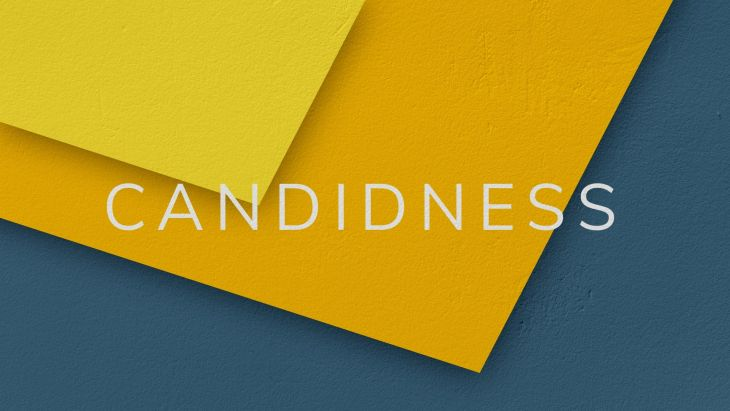 Illustration of the word Candidness
